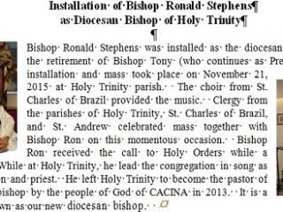 Installation of Bishop Ronald Stephens
