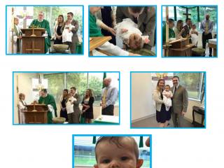 Holy Trinity Celebrates Carson's Baptism