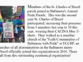 St. Charles Joins in Baltimore Pride Parade